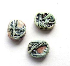 2 Hole Beads Set of 3 by Mary Harding.