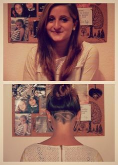 ladies undercuts for long hair - Google Search