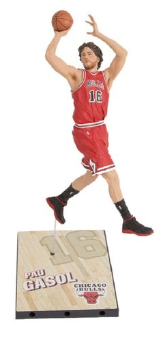After completing his first season with the Chicago Bulls, Pau Gasol steps into the lineup for 2014-2015. A two-time NBA Champion and a five-time All-Star makes Gasol an attractive selection. He will be seen wearing the Bulls' iconic red uniform. #mcfarlane #actionfigure #collectible #toy #PauGasol