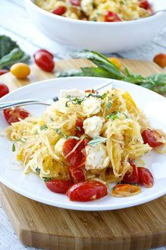 Spaghetti Squash Caprese - Fashionable Foods