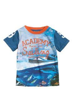 Mega cool Me Too T-shirt Frank Blå Mønstret Me Too T-shirt til Børn & teenager i behagelige materialer