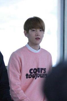 Baekhyun   150413 Gimpo Airport departing for Jeju