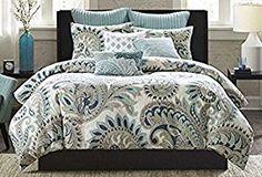 INK+IVY Mira 200TC Comforter Set, King, Blue