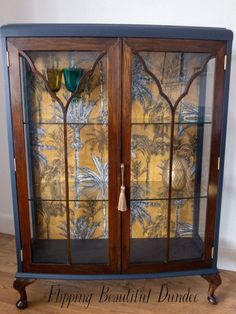 Excited to share this item from my shop: Antique display unit / cocktail cabinet Deco Furniture, Funky Furniture, Recycled Furniture, Furniture Projects, Furniture Makeover, Vintage Furniture, Painted Furniture, Refurbished Furniture, Antique Display Cabinets