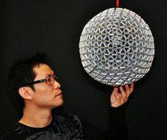 Lámpara hecha con Tetrabriks - Papelisimo