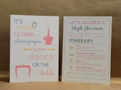 Bachelorette / Bachelorette Night / Bachelorette Weekend / Party / Fun / Invitation / Bridal / Wedding / Maid of Honor / Darby Cards