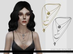 The Sims Resource: Gold Dust Necklace by LeahLillith • Sims 4 Downloads