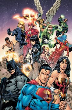 Justice League - Besides the Morrison JLA roster this line-up is one of my favorites (Red Arrow instead of Green, flirting with Hawkgirl; Black Lightning as cool Batman like undercover agent, the classic members Red Tornado, Zatanna, Firestorm on board) Comic Book Artists, Comic Artist, Comic Books Art, Catwoman, Arte Dc Comics, Zatanna Dc Comics, Black Canary, Comic Superman, Teen Titan