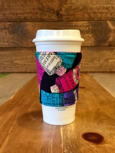 Fabric Coffee Cozy -- VINTAGE HAND CREME -- Fabric Coffee Sleeve, Java Jacket, Coffee Sleeve, Coffee Cup Holder – Ready to Ship by LotusBlumeBoutique on Etsy https://www.etsy.com/listing/491586216/fabric-coffee-cozy-vintage-hand-creme