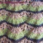 английская вязка Разноцветные веера