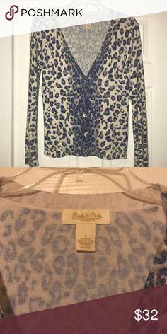 Peck & Peck Leopard Print Cardigan EUC! 55% silk 45% cashmere. Peck & Peck Sweaters Cardigans