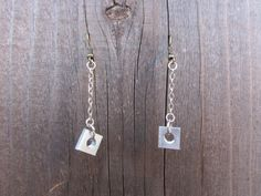 Square Washer Earrings  Stainless Steel  by hardlyExpected on Etsy