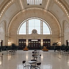 Pioneer Square is full of beautiful spaces to discover on afternoon walks, like Seattle's historic Union Station. The former train station is now used as an event space (and is a perfect place to sketch with Paper and Pencil). Photo by @aaronglewis.