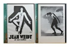 """Vintage Dance Poster . Jean Weidt 1938 & Serge Lifar 1940 . 2 Sided Actual Book Page . 16 x 11"""" by 13thStreetEmporium on Etsy"""