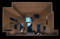 Werther (Jules Massenet), set and light design: Klaus Grünberg, Opernhaus Zürich, 2017