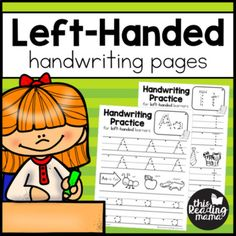 If you teach a left-handed learner, you know that handwriting can be a challenge. To top it off, it can be difficult to find resources that are geared towards left-handed writers. Until now...You might be wondering how these handwriting pages are different from any other handwriting pages out there.