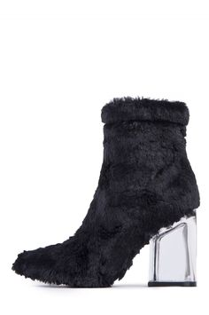 aa19a6e4c07 Jeffrey Campbell Shoes TRULY-FLH Booties in Black Faux Clear