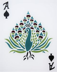 peacock playing card
