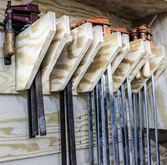 Woodworking Metal Vice Clamps Tool Storage Ideas