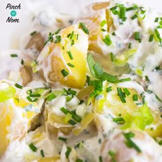 Traditional potato salad isn't very Slimming World friendly with all that mayonnaise, so we decided to make our own Syn Free Potato Salad.