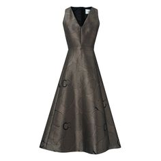 Buy L. Bennett Bianco Metallic Full Skirt Dress, Gold/Black, 8 from our Women's Dresses Offers range at John Lewis & Partners. Metallic Cocktail Dresses, Gold Cocktail Dress, V Neck Cocktail Dress, Winter Wedding Outfits, Autumn Wedding, Black Midi, Dress Black, Calf Length Dress, Sophisticated Dress