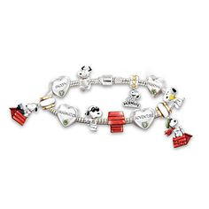 The Adventures Of Snoopy Charm Bracelet