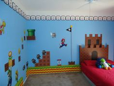 super mario themed bedroom created by build a room an orlando fl