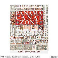 PCZ – Panama Canal Zone Locations wth Mola Design Panel Wall Art