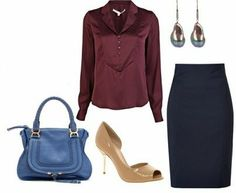 """How to wear oxblood/ Fall/winter 2013/14 """"in"""" color/ blue with oxblood"""