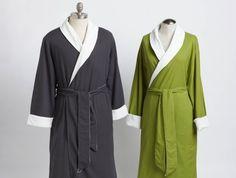 4c0fa84f27e4 Coyuchi Seersucker Robe This 100% organic cotton robe falls well below the  knee and closes