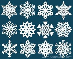 Paper Snowflakes by firstpalette. Follow our easy instructions for folding and cutting paper into beautiful and unique paper snowflakes.