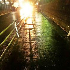雪かも すぐ雨に変わったけど  #雨 #雨空 #空 #ちょっとだけ雪になって #すぐ雨に #寒いから #また雪になるかも  #rain #sky #street #rainyday #night #scene #japan #yokohama #landscape #instagram