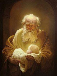 Simeon and Jesus.