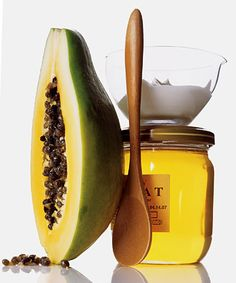 DIY Face Skin Care    Milky Facial Scrub    1 Teaspoon Powdered Milk  1 Teaspoon Honey  3 drops lemon juice  Skin Brightening Mask  1/2 cup unripe papaya, diced  1 Teaspoon Plain Yogurt  1 Teaspoon Honey
