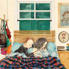 """Love - 165 curtidas, 11 comentários - Cecília Murgel Drawings (@ceciliamurgeldrawings) no Instagram: """"Boa noite! #boanoite #lembranças #desenho #ilustração #illustration #drawing #instaart…"""""""
