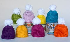 Egg warmer,  Catania Schachenmayr | Koukuttamo | crocheting | easter  ~ LINK CORRECT and pattern is FREE when I checked on 04/09/2015.