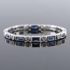 780S-420P Ultra thin fancy shaped baguette sapphire & diamond Mini Mania series