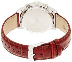 Amazon.com: Seiko Men's SNDC31 Classic Stainless Steel Chronograph Watch with Brown Leather Band: Seiko: Watches