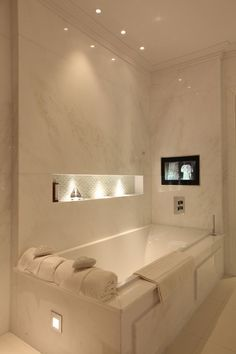 spa like bath Rustic Bathroom Lighting, Bathroom Light Fixtures, Bathroom Vanity Lighting, Rustic Bathrooms, Master Bathrooms, Lighting System, Lighting Ideas, Lighting Design, Loft Bathroom