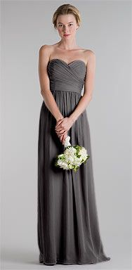 Jenny Yoo Collection - Grey Bridesmaid dress I LOVE