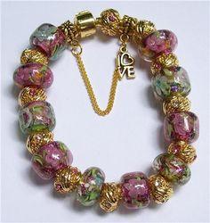 Gorgeous stunning beautiful lampwork bead jewellery