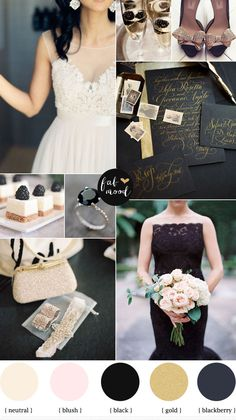 blackberry gold and white with hint of blush wedding inspiration,wedding color,wedding palette. OH THESE COLORS