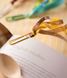 Paperclip and Ribbon Bookmarks;  Clip onto an inspirational quote or scripture; church gifts for Mother's Day.
