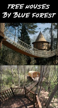 See these amazing tree houses by Blue Forest! They are an award winning company specializing in the design and construction of luxury treehouses. They turn fantasies – for adults and children, into reality!