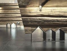 Trondheim, construccion con troncos de madera y acero|Espacios en madera