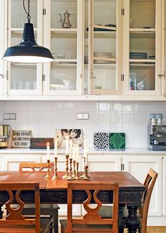 Kitchen Designs, marble counter tops, white cabinetry, and white subway tile (instead of what's here)