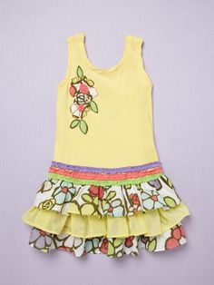 Yellow Ruffle Dress by beetlejuice on Gilt