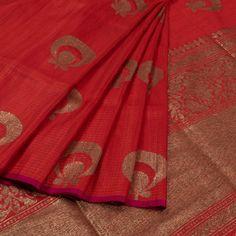 f70b14a31a Handwoven Banarasi Kadhwa Dupion Silk Saree With Genda Butis 10020367 -  AVISHYA.COM Dupion Silk