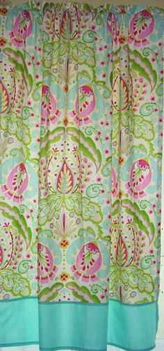 Curtains using Kumari Garden by Dena Designs by CustomThreadlines, $60.00  I love these colors!