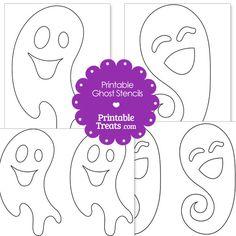 Printable Ghost Stencils from PrintableTreats.com